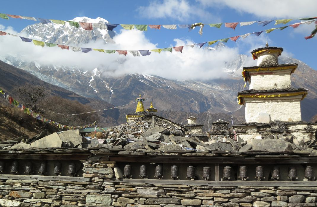 Prayer wheel in Manaslu and Tsum 2014
